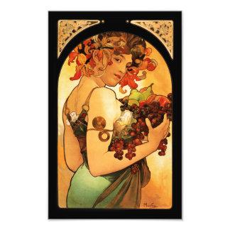 Alphonse Mucha Fruit Print Photographic Print