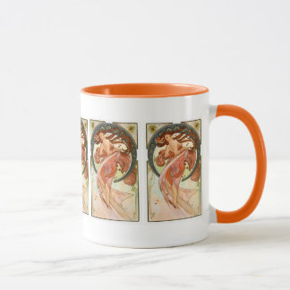 Alphonse Mucha - Girly Nouveau Art - Dance Mug
