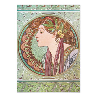 Alphonse Mucha Goddess Art Card