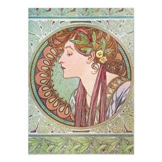 "Alphonse Mucha Goddess Art 4.5"" X 6.25"" Invitation Card"