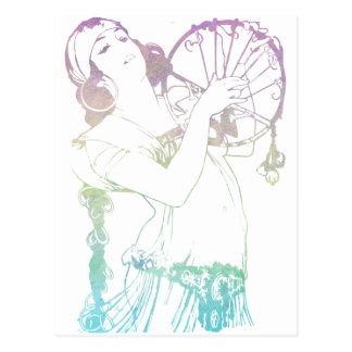 Alphonse Mucha Gypsies Postcard