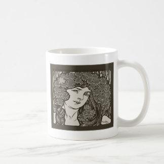 Alphonse Mucha Illustration Coffee Mug