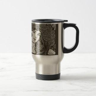 Alphonse Mucha Illustration Stainless Steel Travel Mug