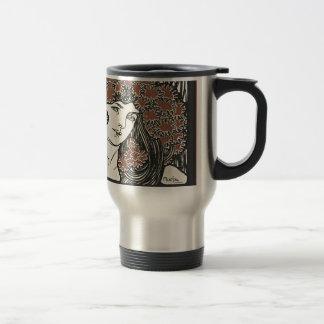 Alphonse Mucha Illustration Travel Mug