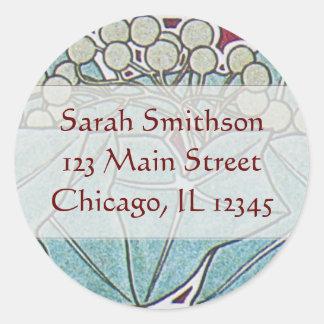 Alphonse Mucha Ivy Art Nouveau Address Labels