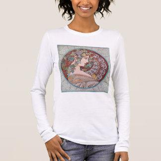 Alphonse Mucha Ivy Art Nouveau Shirt Top T-Shirt