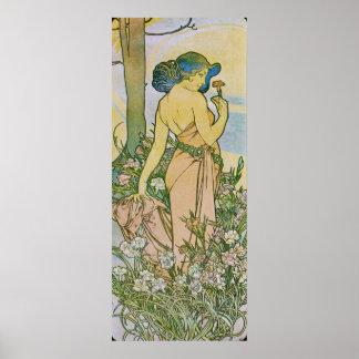 Alphonse Mucha. L 'Oeillet/Carnation, 1897 Poster