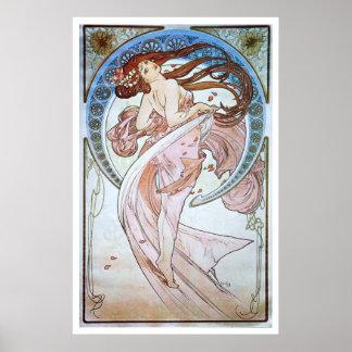 Alphonse Mucha. La Danse/Dance, 1898 Poster
