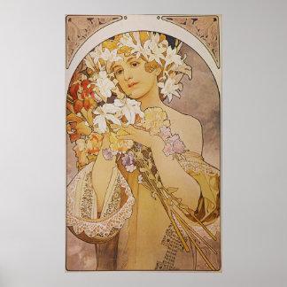 Alphonse Mucha. La Fleur/Flowers, c.1897 Poster