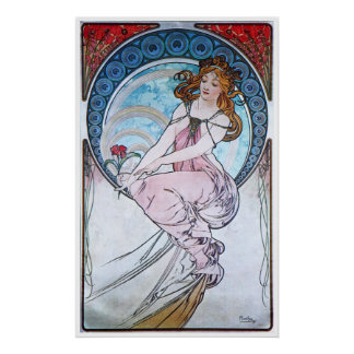 Alphonse Mucha. La Peinture/Painting, 1898 Poster