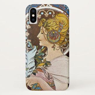 Alphonse Mucha La Plume Quill Pen Art Nouveau iPhone X Case