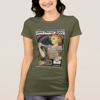 "Alphonse Mucha- Lance Parfum ""Rodo"" - Perfume Ad T-Shirt"