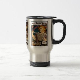 """Alphonse Mucha- Lance Parfum """"Rodo"""" - Perfume Ad Travel Mug"""