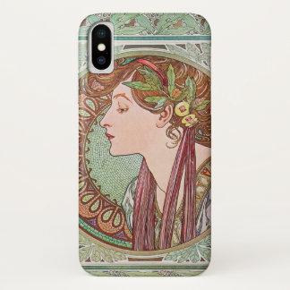 Alphonse Mucha Laurel Art Nouveau iPhone X Case
