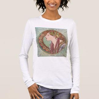 Alphonse Mucha Laurel Art Nouveau Top T-shirt