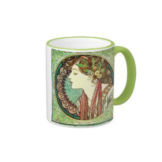 Alphonse Mucha Laurel Mug