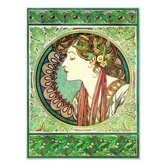 Alphonse Mucha Laurel Print Art Photo