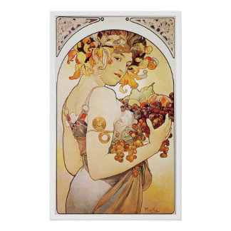Alphonse Mucha. Le Fruit/Fruit, c.1897 Poster