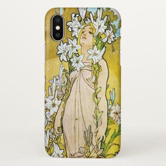 Alphonse Mucha Lily Art Nouveau iPhone X Case