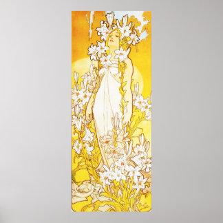 Alphonse Mucha Lily Poster