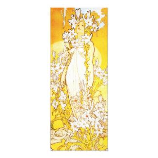 Alphonse Mucha Lily Print Art Photo