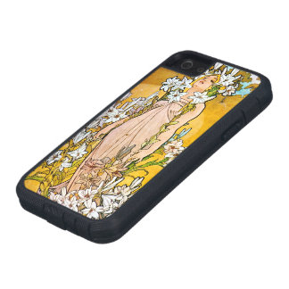 Alphonse Mucha - Lily - White Border iPhone 5 Cover