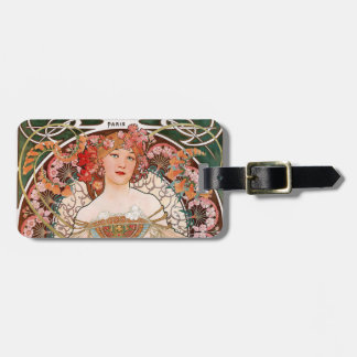 Alphonse Mucha Luggage Tag