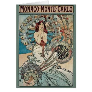Alphonse Mucha  ~ Monaco Monte Carlo Art Nouveau Card