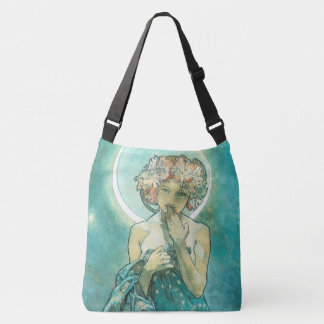 Alphonse Mucha Moonlight Clair De Lune Art Nouveau Crossbody Bag
