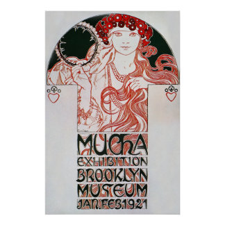 Alphonse Mucha. Mucha Exhibition, 1921 Poster