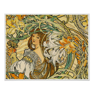 Alphonse Mucha Poster:  Language of Flowers Poster