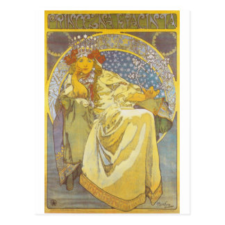Alphonse Mucha - Princess Hyacint Postcard