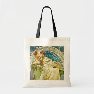 Alphonse Mucha Princess Hyacinth Art Nouveau Budget Tote Bag