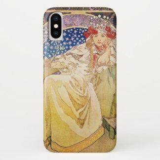 Alphonse Mucha Princess Hyacinth Art Nouveau iPhone X Case