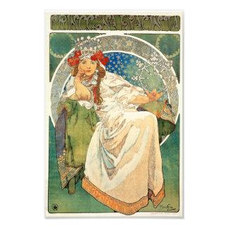 Alphonse Mucha Princess Hyacinth Print Photo Art
