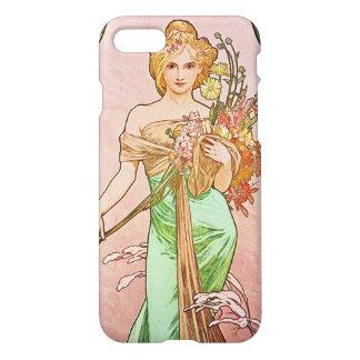 Alphonse Mucha Printemps Spring Art Nouveau iPhone 8/7 Case