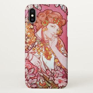Alphonse Mucha Printemps Spring Art Nouveau iPhone X Case