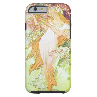 Alphonse Mucha Spring Floral Vintage Art Nouveau Tough iPhone 6 Case