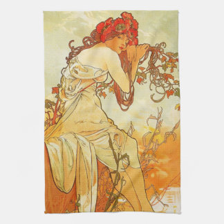 Alphonse Mucha Summer Kitchen Towel