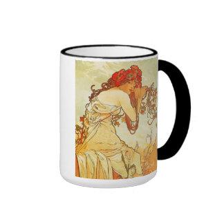 Alphonse Mucha Summer Mug