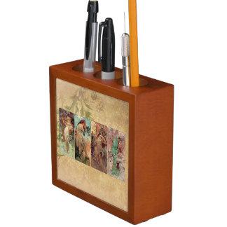 Alphonse Mucha ~ The Four Seasons Desk Organiser