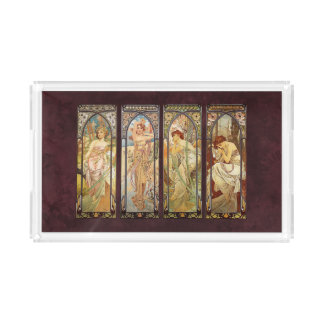 Alphonse Mucha, The Times of the Day Acrylic Tray