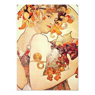"Alphonse Mucha Vintage Art 5"" X 7"" Invitation Card"