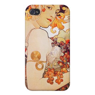 Alphonse Mucha Vintage Art Cases For iPhone 4