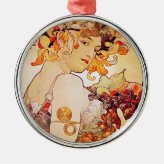 Alphonse Mucha Vintage Art Christmas Ornament