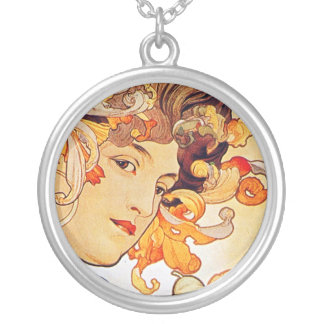 Alphonse Mucha Vintage Art Custom Jewelry