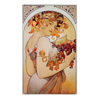 Alphonse Mucha Vintage Art Print