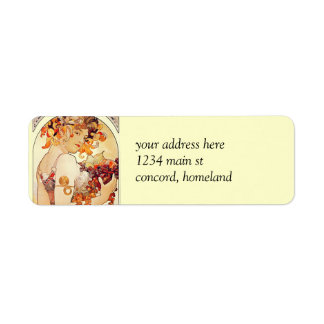 Alphonse Mucha Vintage Art Return Address Label