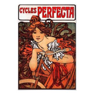 Alphonse Mucha Vintage Bicycle Print Photographic Print