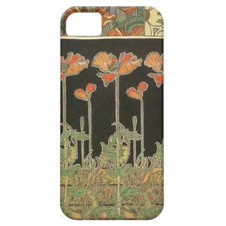 Alphonse Mucha Vintage Popular Art Nouveau Poppies Case For The iPhone 5